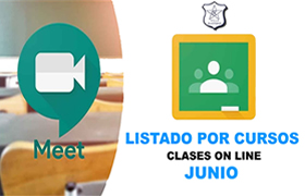Calendario de Clases on line mes de Junio 2020